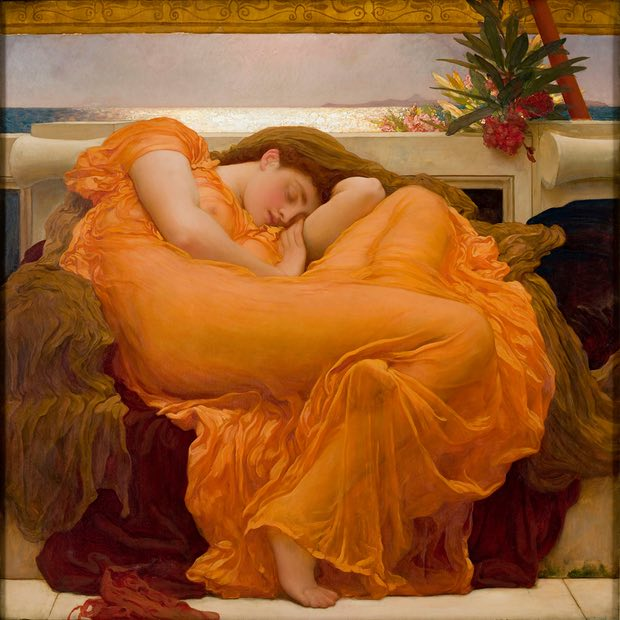 FLAMING JUNE by Frederic Leighton 1895